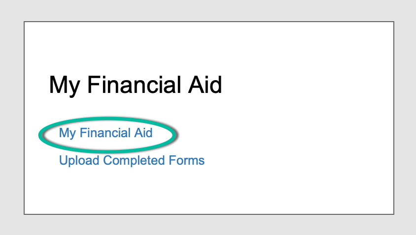 My financial Aid portlet