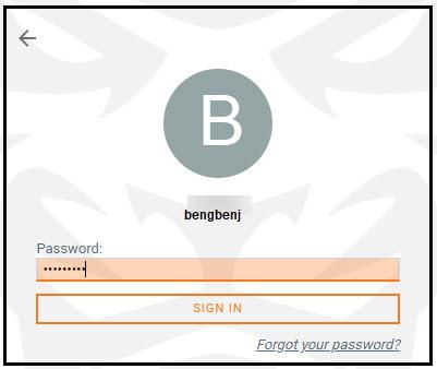 Enter your password