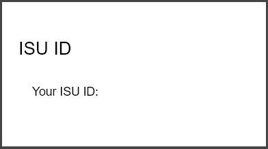 ISU ID channel located in bengalweb