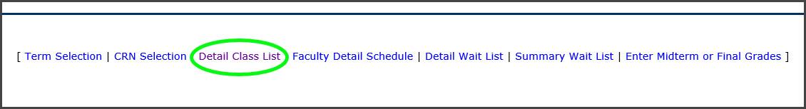 Filter options for class list