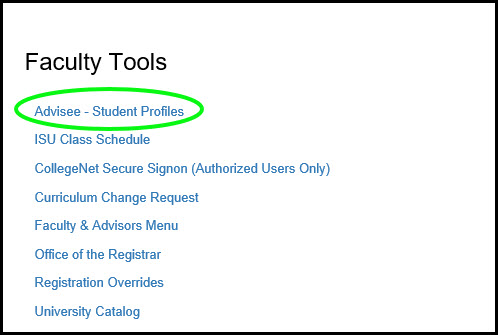 Faculty tools portlet and Advisee student profiles
