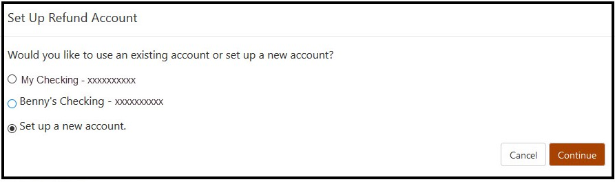 Set up a new account or current